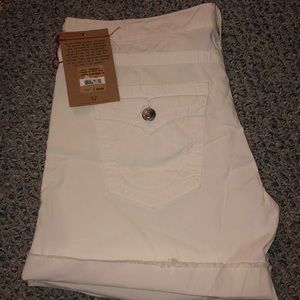 White true religion boyfriend shorts NWT